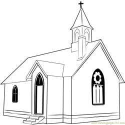 Union Point Church Free Coloring Page for Kids