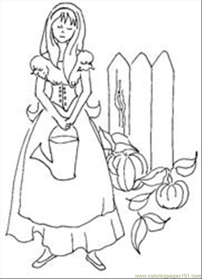 Cinderellagardenthumbimage Coloring Page