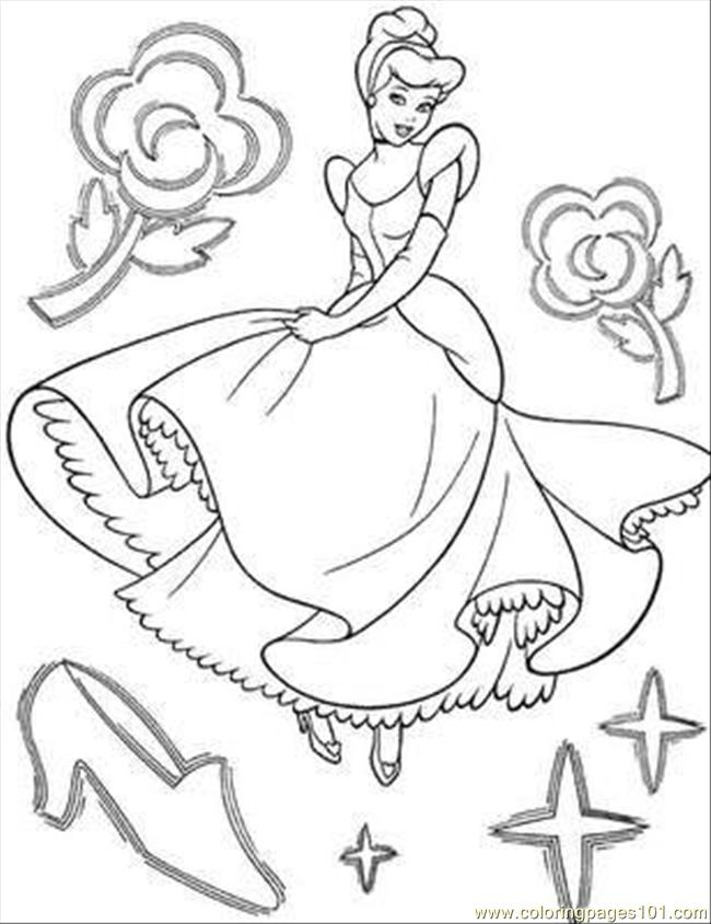 Cinderella Coloring Page 14 Coloring Page For Kids - Free Cinderella Printable  Coloring Pages Online For Kids - ColoringPages101.com Coloring Pages For  Kids
