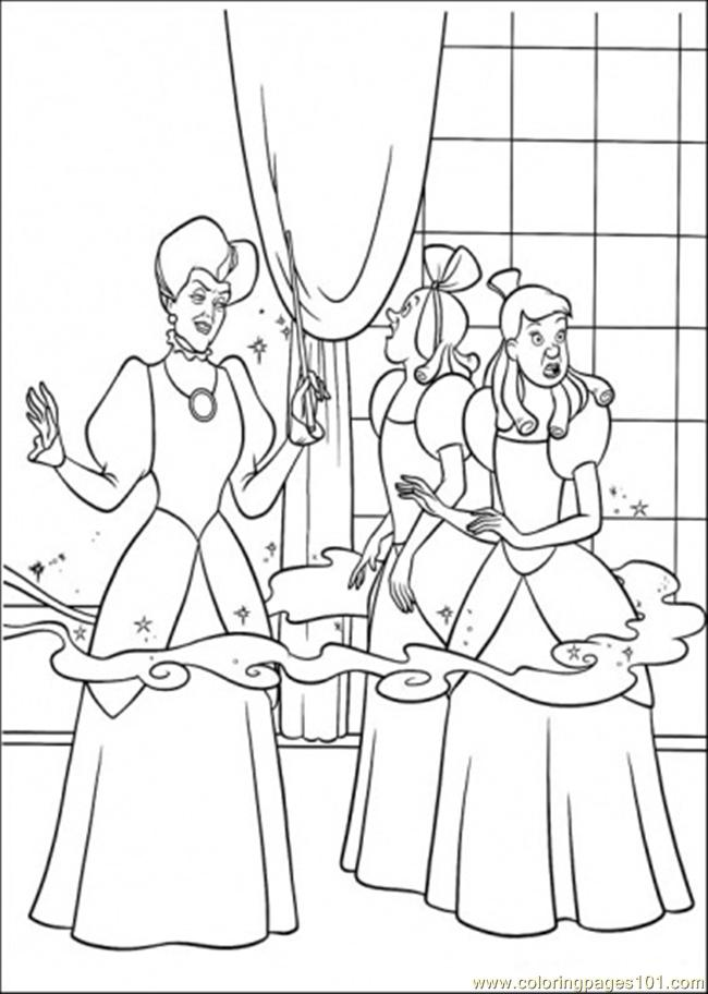 Cinderellas Mother Changes Her House Coloring Page