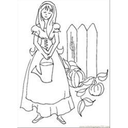 Cinderellagardenthumbimage Free Coloring Page for Kids