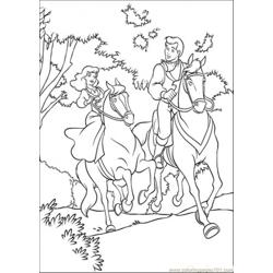 Cinderella And Prince Are Riding Horse Together