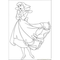 Cinderella Sings A Song Free Coloring Page for Kids