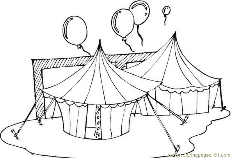 circus tents coloring page free circus animals coloring