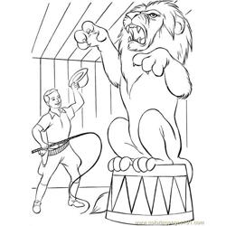 Circus Animal Lion coloring page