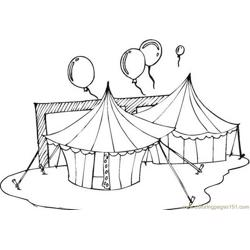 Circus Tents Free Coloring Page for Kids