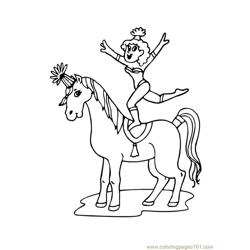 Circus Horse man coloring page