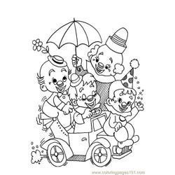 Circus joker Free Coloring Page for Kids