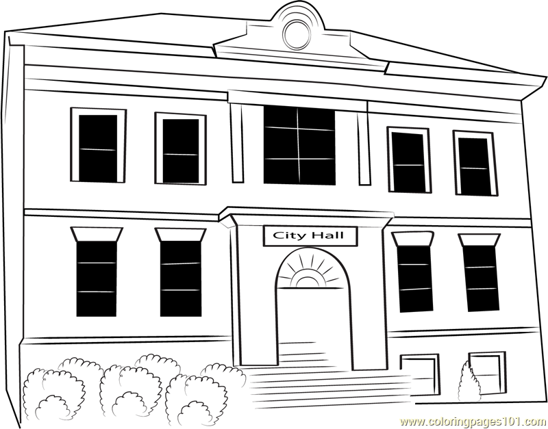 Ansonia City Hall Coloring Page