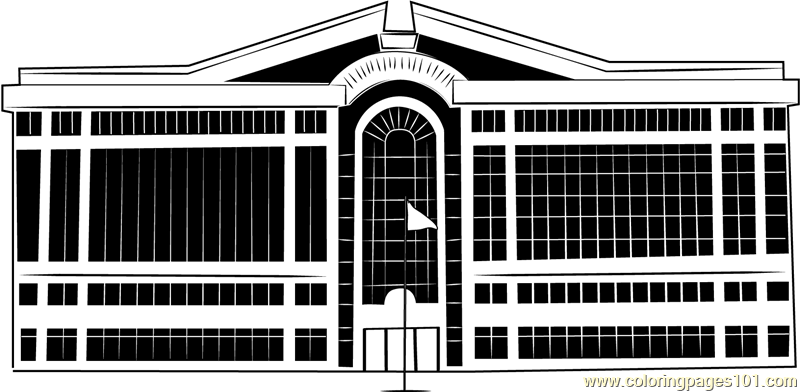 Chesapeake City Hall Coloring Page