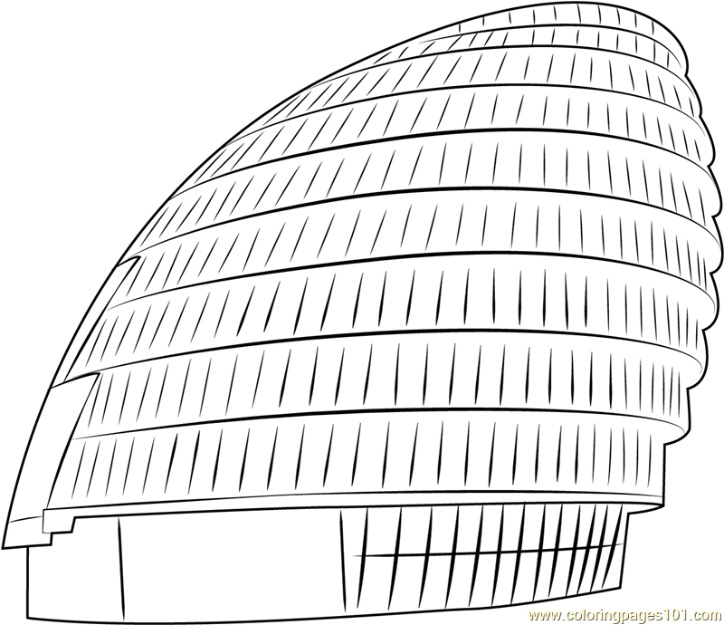 City Hall London Coloring Page