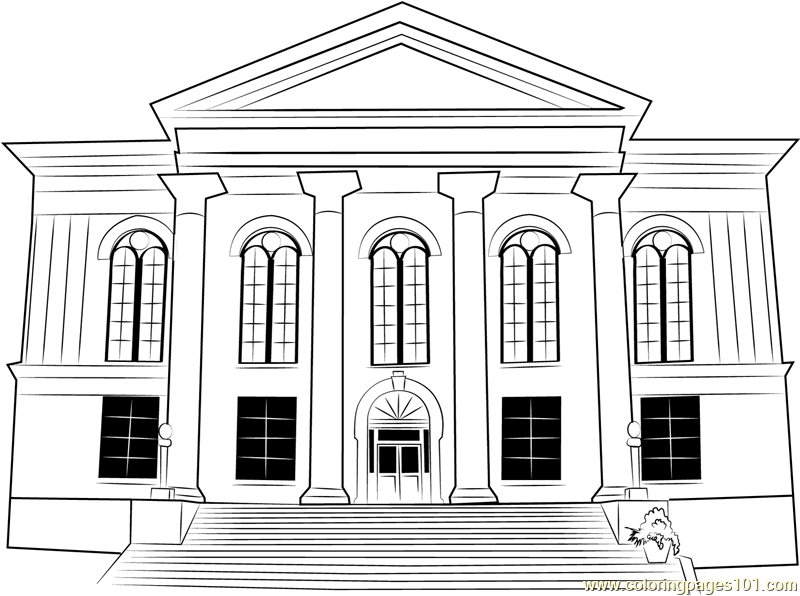 City Hall Thalian Coloring Page