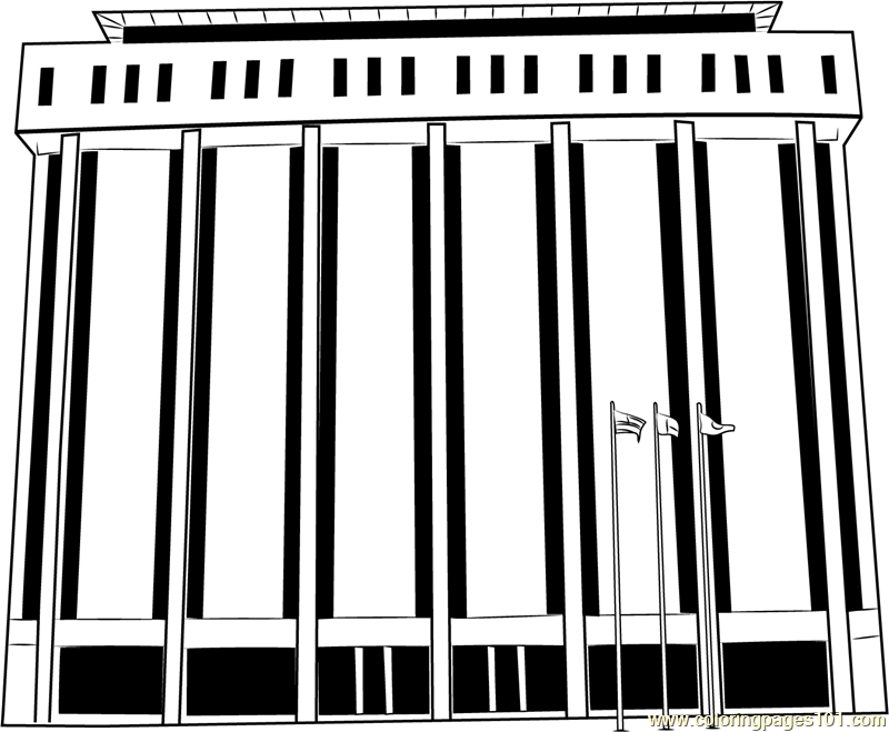 City Hall in India Coloring Page