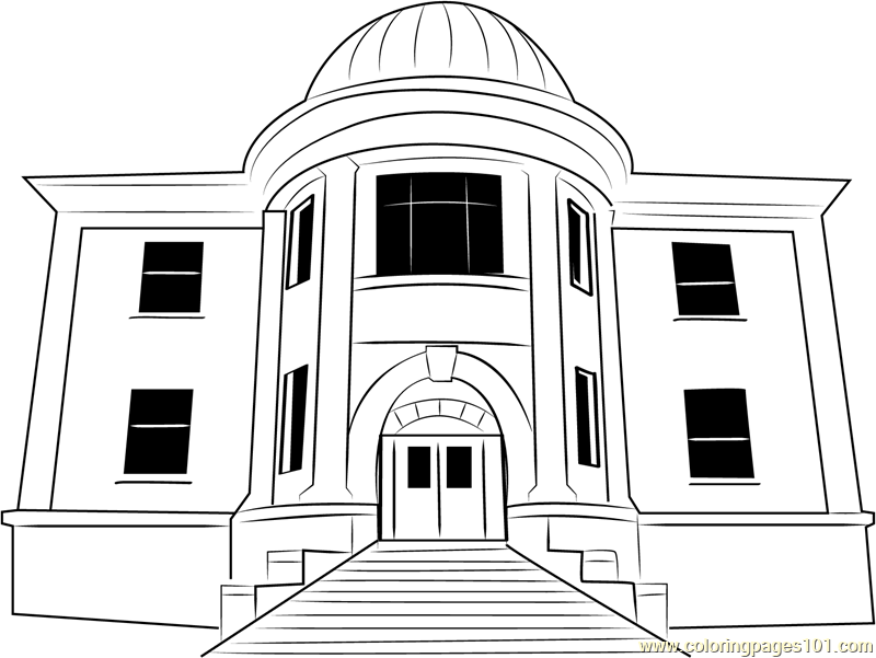 City Hall in United State Coloring Page