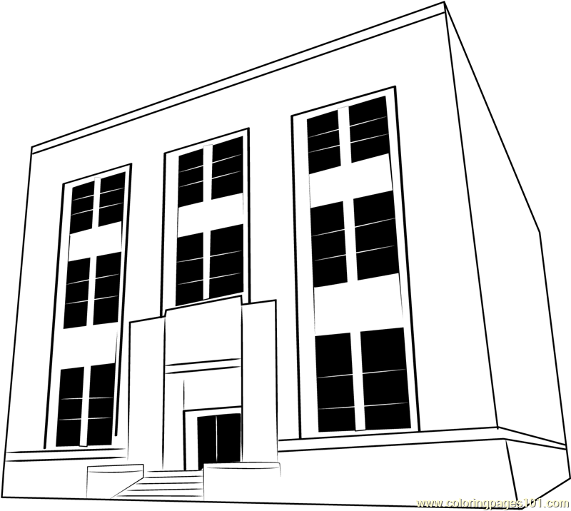 Civic Center Coloring Page