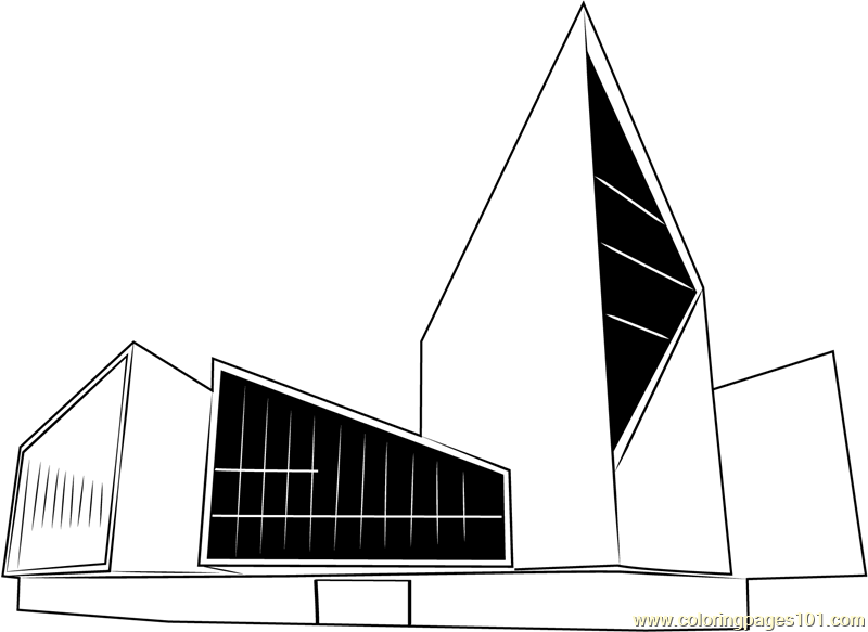 Estonias Capital Tallinn City Hall Coloring Page
