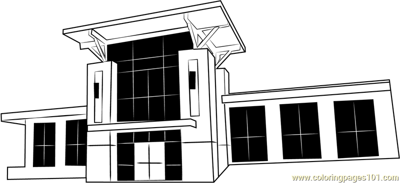 George Town City Hall Coloring Page