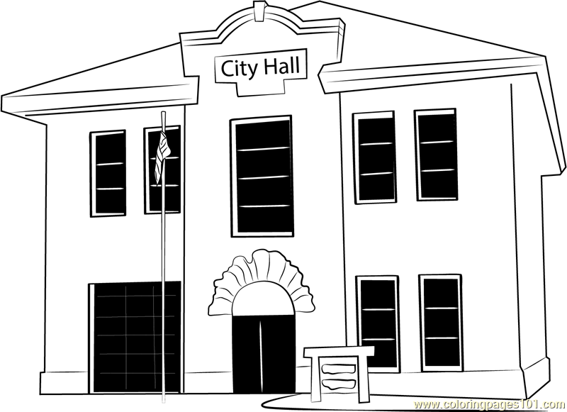 Guild Hall Coloring Page