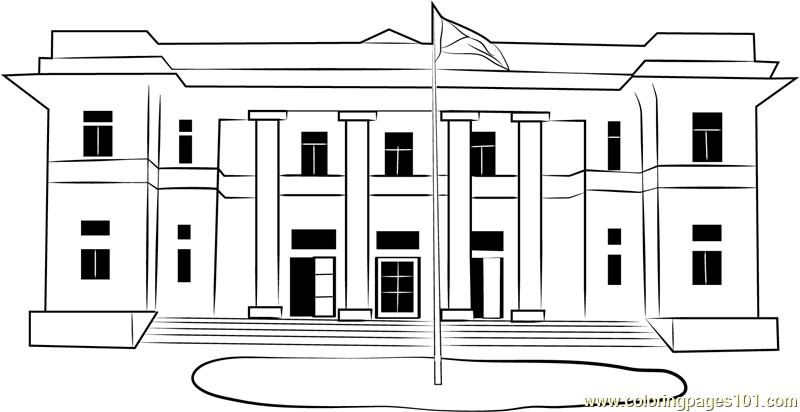 Hartford City Hall Coloring Page