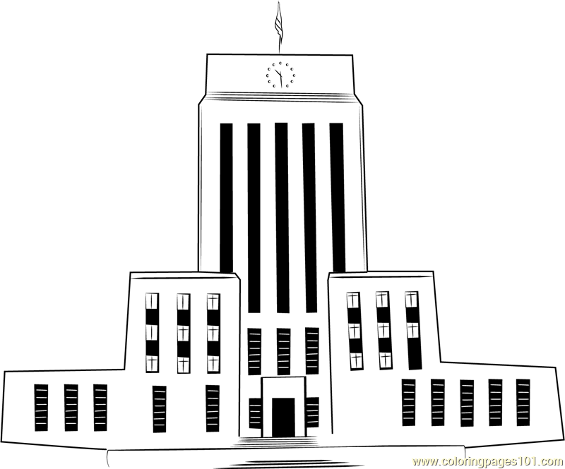 Houston City Hall Coloring Page