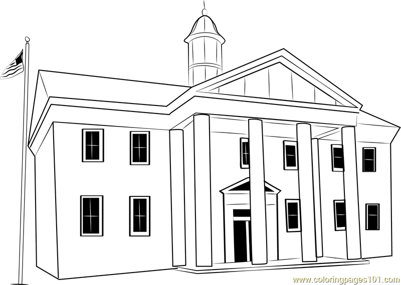 New York City Hall Coloring Page