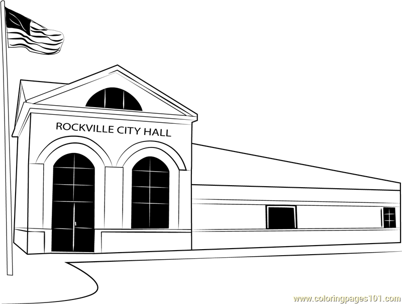 Rockville City Hall Coloring Page