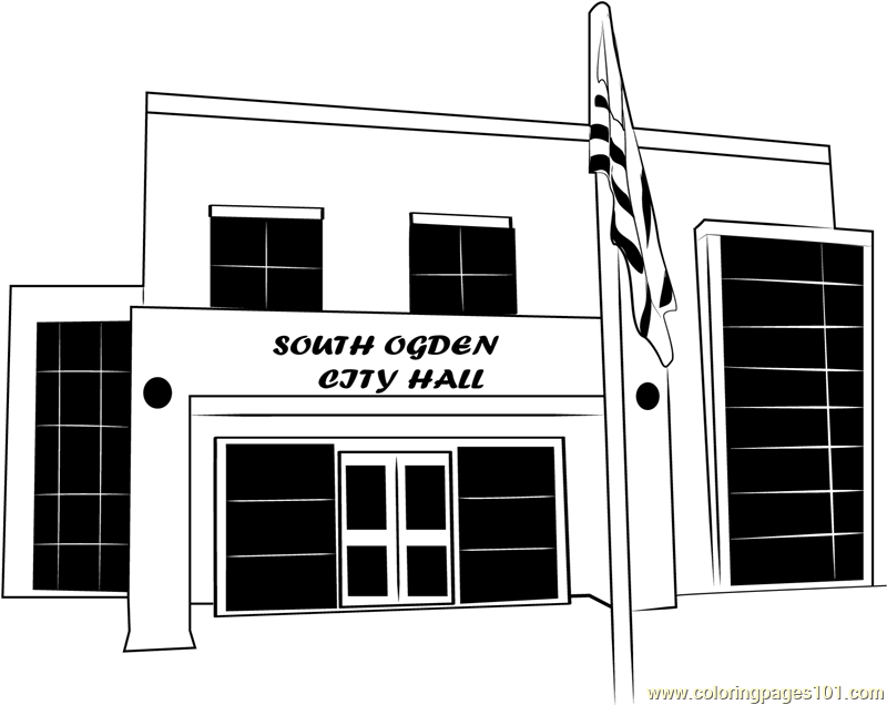 South Ogden City Hall Coloring Page