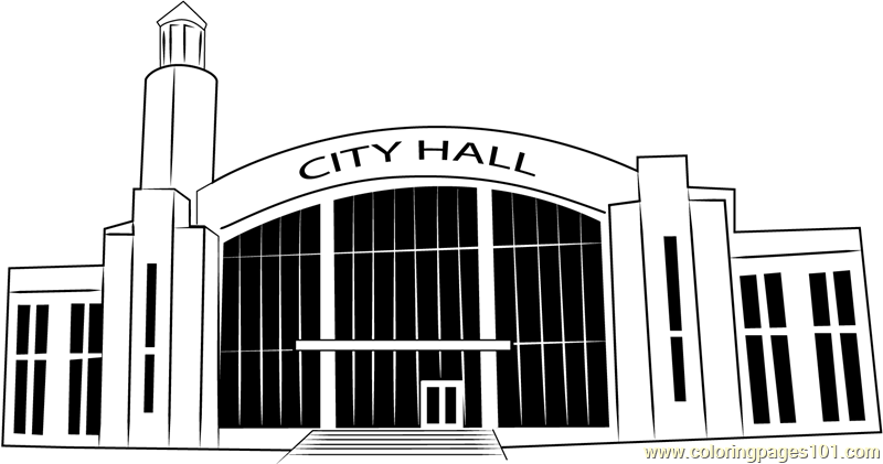 Suwanee City Hall Coloring Page