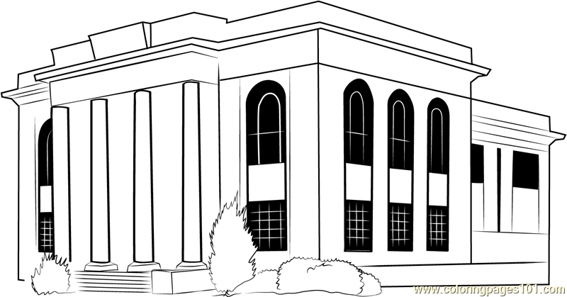 Town Hall Coloring Page