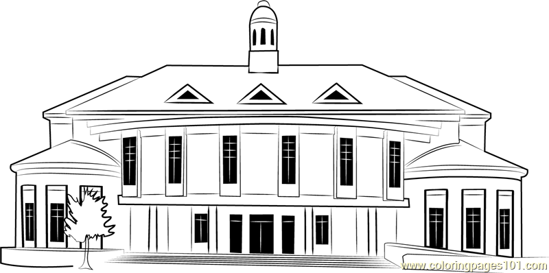 Twilight Shot City Hall Coloring Page