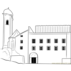 City Hall Kufstei coloring page