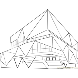 Nieuwegein City Hall coloring page