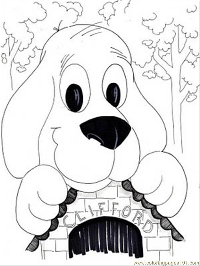 commss clifford coloring page