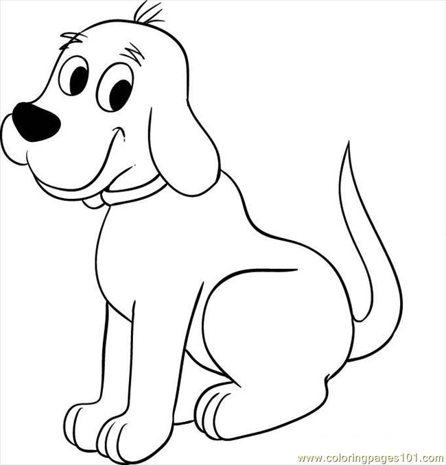 Cifford The Big Red Dog Step 5 Coloring Page