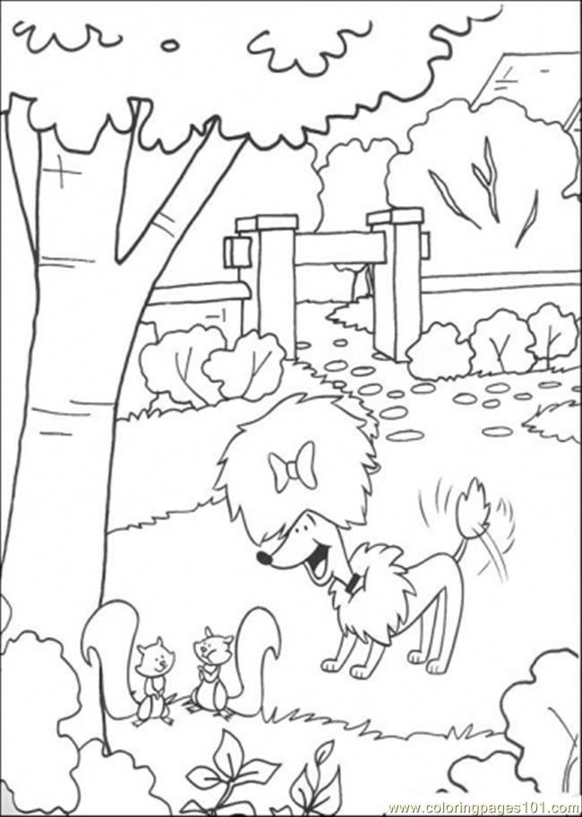Cleo plays in the garden coloring page free clifford the for Disegno giardino da colorare