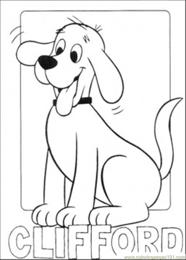 Clifford11 Coloring Page Free Clifford The Big Red Dog