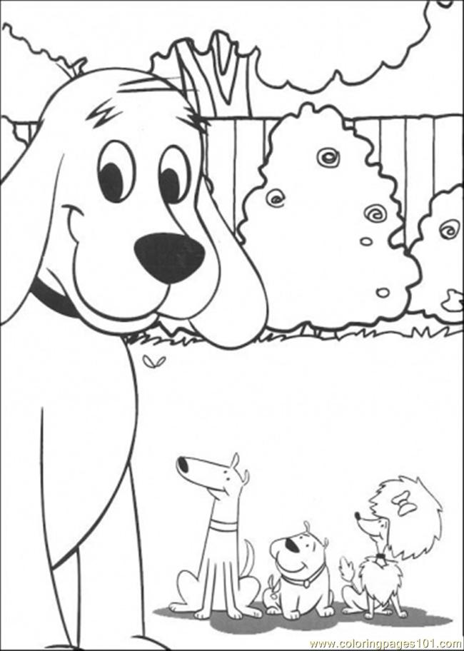 Clifford And Friends Together Coloring Page