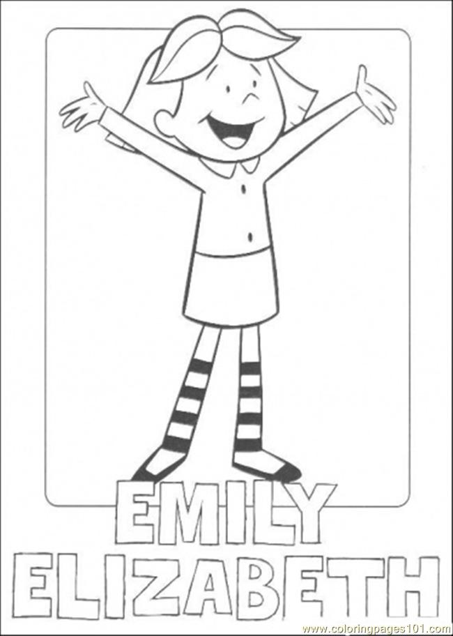 Emily Alizabeth Coloring Page Free Clifford The Big Red