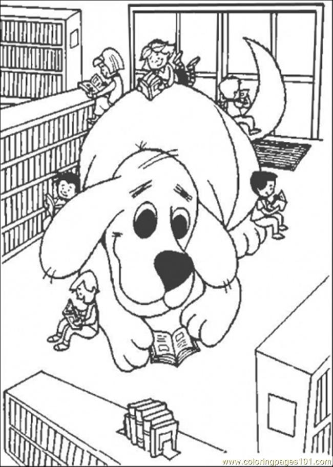 Giant Clifford Coloring Page