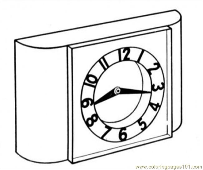 Clock Coloring Page Free Clocks Coloring Pages