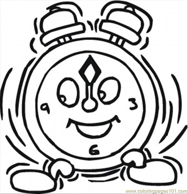 Happy Gclock Coloring Page