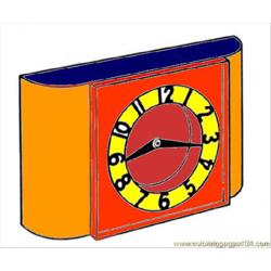 Clock 0 coloring page