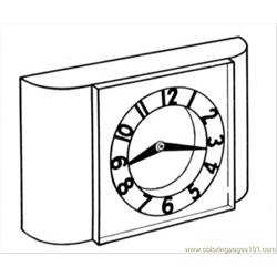 More Clocks Coloring Pages Clock