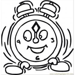 Happy Gclock Free Coloring Page for Kids