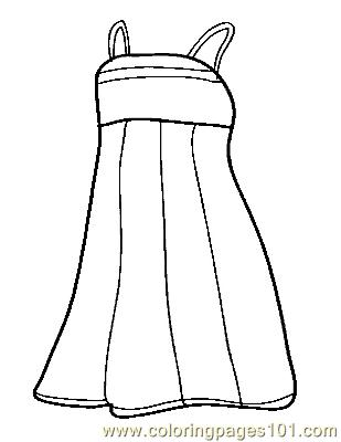 Dress Coloring Page Free Clothes Coloring Pages