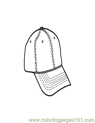 Hat Coloring Page
