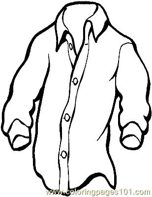 Shirt Coloring Page Free Clothes Coloring Pages