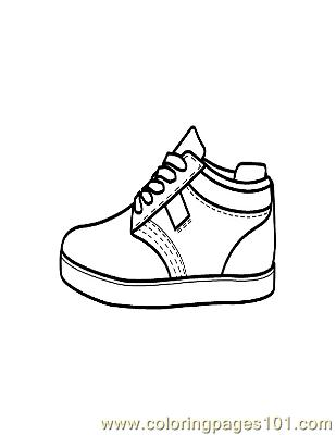 picture relating to Sneaker Coloring Page Printable named Sneaker Coloring Web site - No cost Garments Coloring Web pages