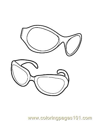 Sun Glasses Coloring Page