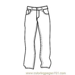 Pants coloring page